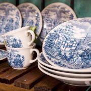 Aparelho de Jantar e Chá 20 Peças Cena Inglesa - Oxford/biona