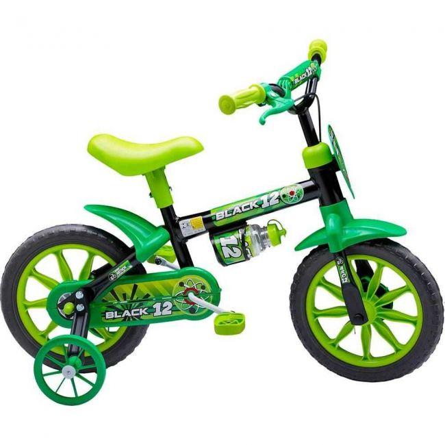 Bicicleta Infantil Aro 12 Black - Nathor
