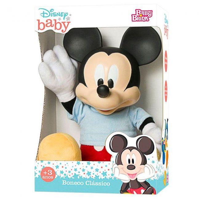 Boneco Disney Baby Mickey Pelúcia Baby Brink