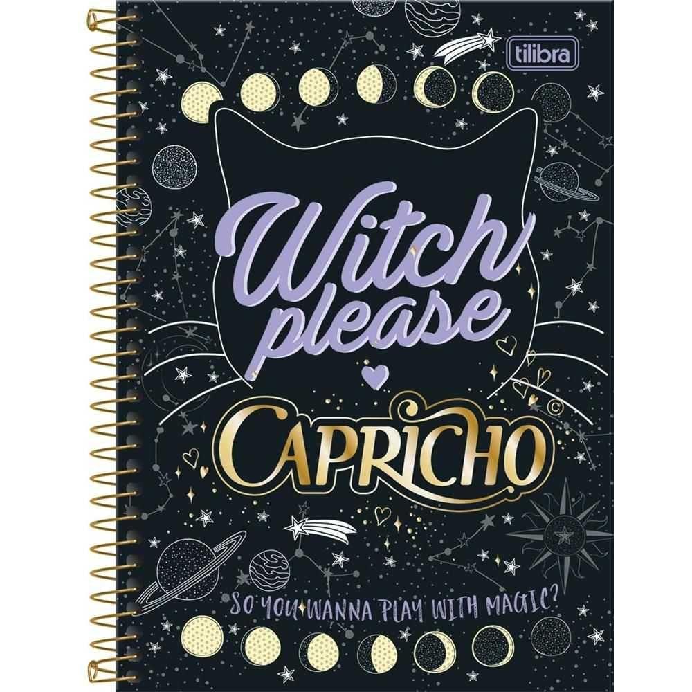 Caderno Espiral Capa Dura 1/4 (pequeno) 96 Folhas Capricho Capa 01 - Tilibra