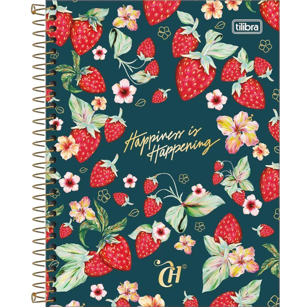 Caderno Espiral Capa Dura Colegial 10 Matéria Capricho 160 Folhas (médio) - Tilibra