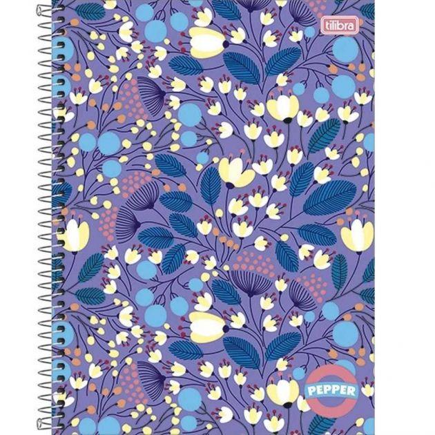 Caderno Espiral Capa Dura Universitário 1 Matéria Pepper Feminino 80 Folhas Capa 02- Tilibra