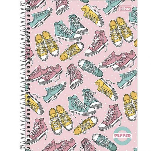 Caderno Espiral Capa Dura Universitário 1 Matéria Pepper Feminino 80 Folhas Capa 05 - Tilibra
