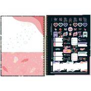 Caderno Espiral Capa Dura Universitário 10 Matéria 160 Folhas Capricho Capa 03 - Tilibra