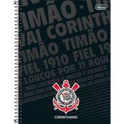 Caderno Espiral Capa Dura Universitário 10 Matéria 200 Fls Corinthians Capa 03 - Tilibra