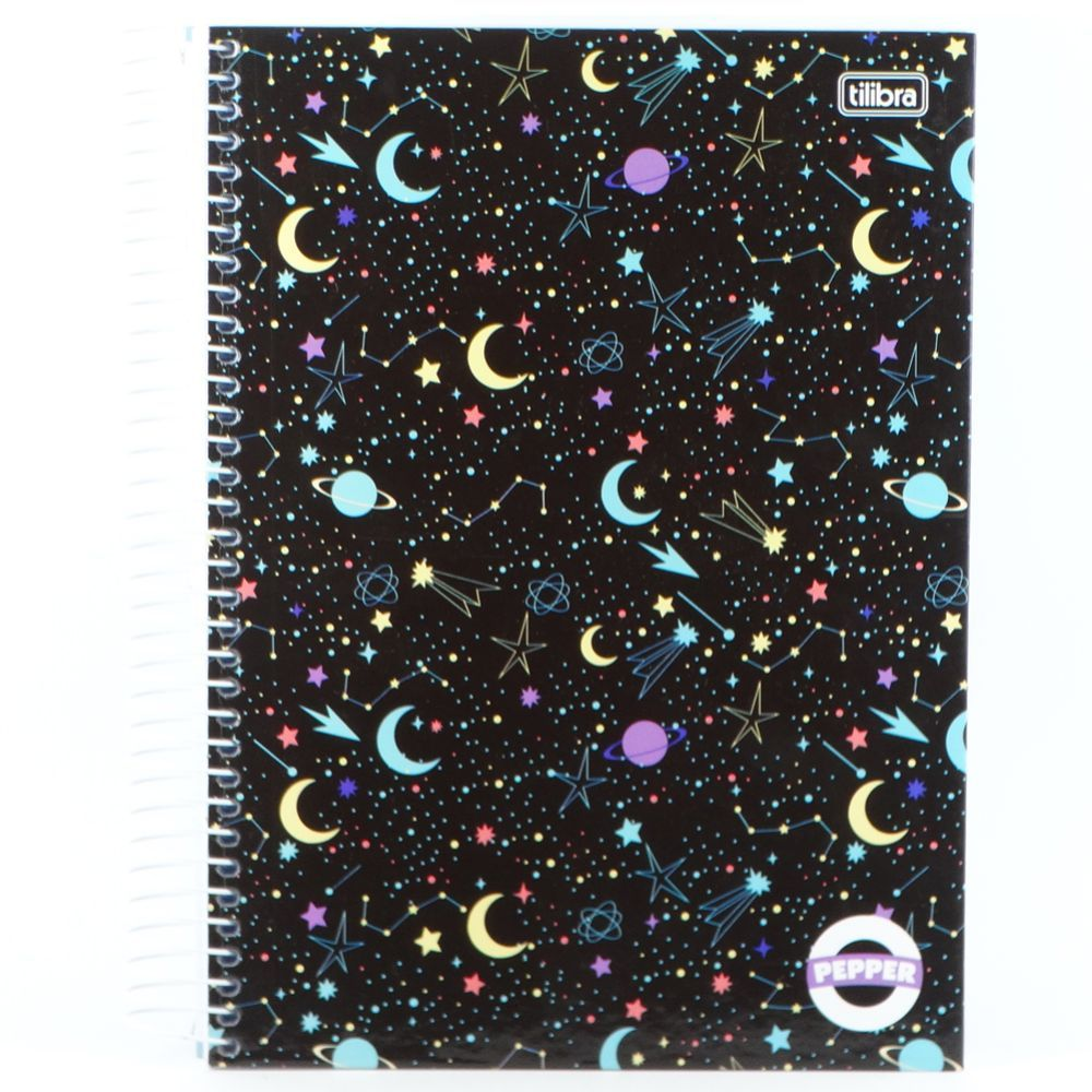 Caderno Espiral Capa Dura Universitário 10 Matéria Pepper Feminino 160 Folhas Capa 05 - Tilibra