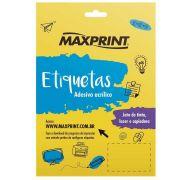 Etiqueta Ink-jet/laser 6093 25,4x266,7 Mm Pacote Com 10 Folhas Com 24 Etiquetas Por Folha - Maxprint