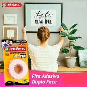 Fita Dupla Face Espuma19mmx2m Fixa Pro - Aldebras
