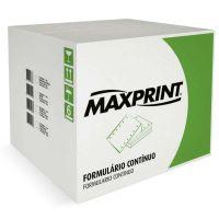 Formulario Continuo 3 Vias Razâo 80 Colunas Branco 2000 Folhas 240mmx140mm - Maxprint