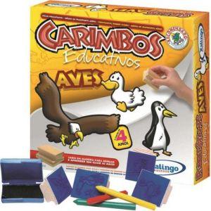 Jogo de Carimbo Educativo Aves - Xalingo