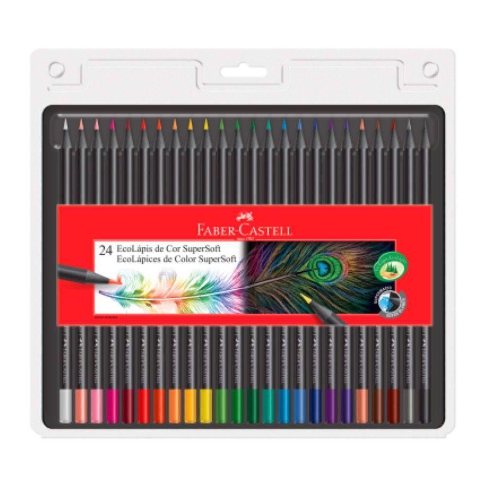 Lápis de Cor 24 Cores Super Soft Faber-castell