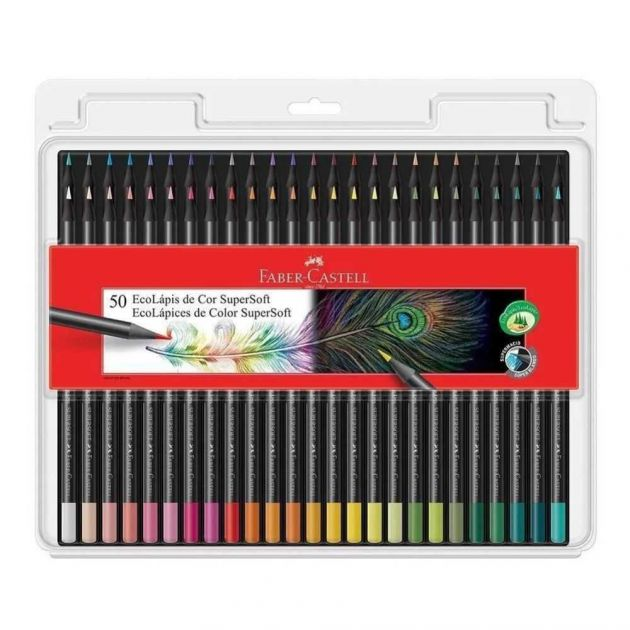 Lápis de Cor 50 Cores Super Soft - Faber-castell