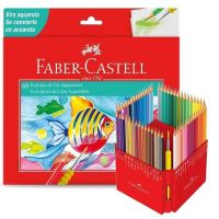 Lápis de Cor Aquarelável Ecolápis 60 Cores + 1 Pincel -  Faber-castell