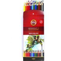 Lápis de Cor Aquarelável Mondeluz Com 24 Cores Koh-i-noor