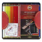 Lápis de Cor Artístico Polycolor Estojo Metálico Com 48 Cores - Koh-i-noor