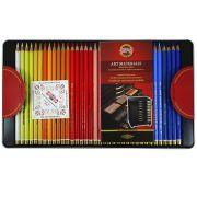 Lápis de Cor Artístico Polycolor Estojo Metálico Com 72 Cores - Koh-i-noor