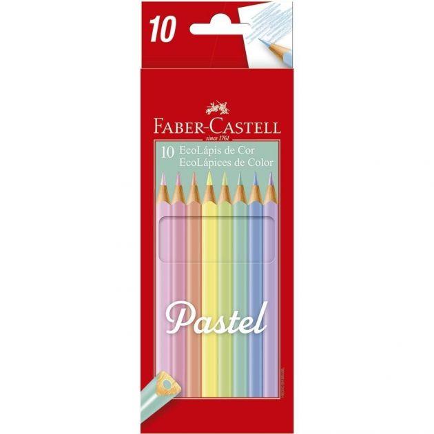 Lápis de Cor Ecolápis Cor Pastel 10 Cores - Faber Castell