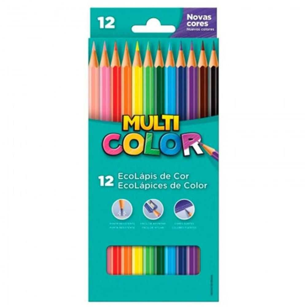 Lápis de Cor Longo 12 Multicolor Super Faber