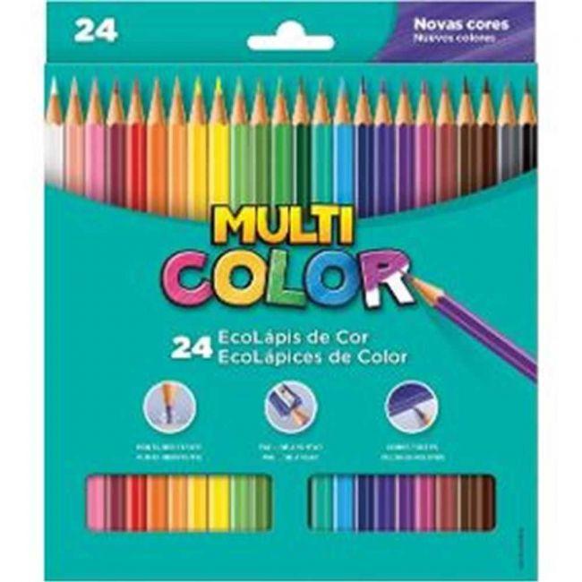 Lápis de Cor Longo 24 Multicolor Super - Faber-castall