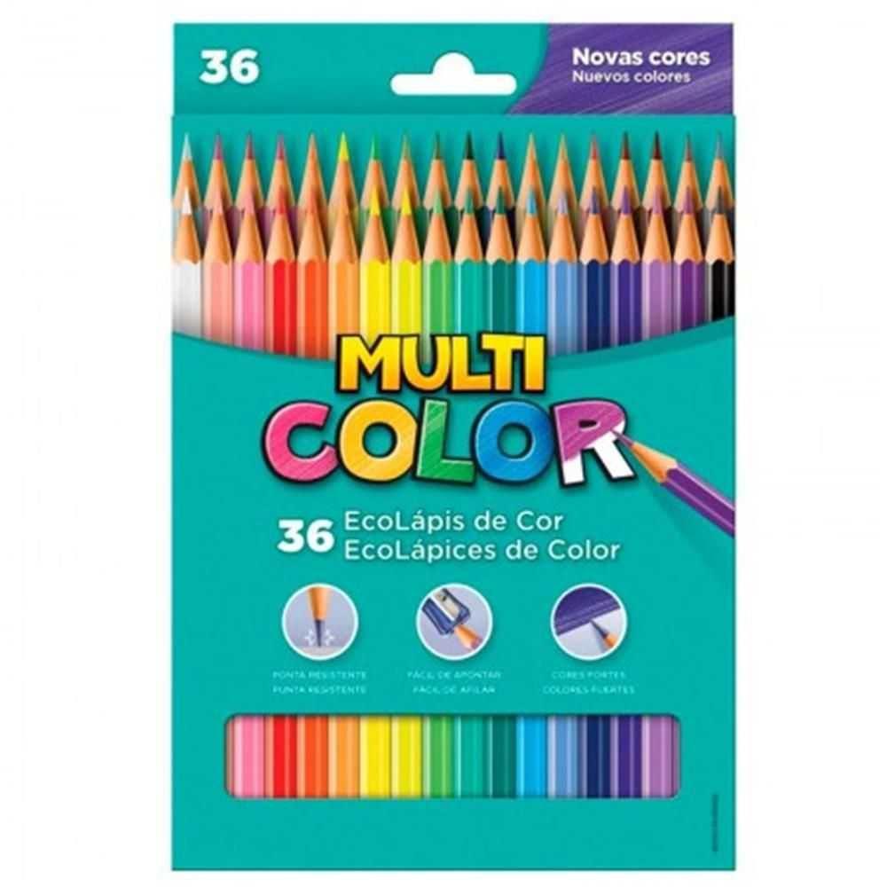 Lápis de Cor Longo 36 Multicolor Super - Faber-castell