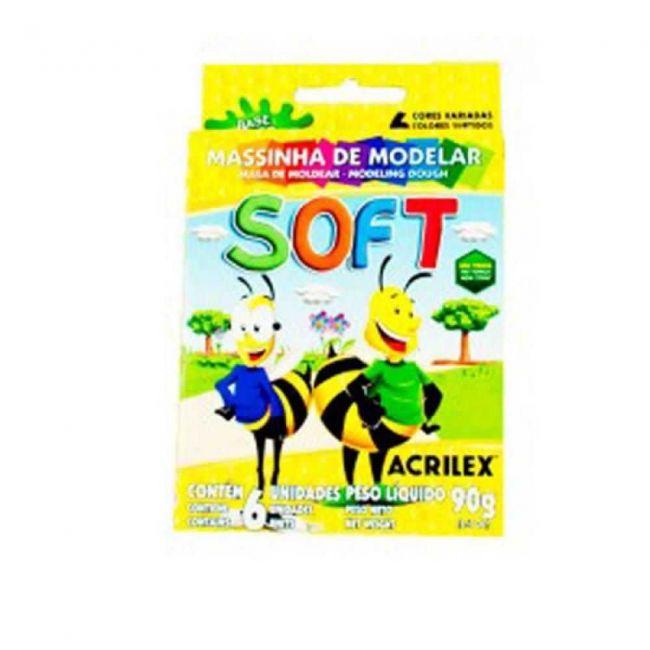 Massa de Modelar 6 Cores Soft - Acrilex