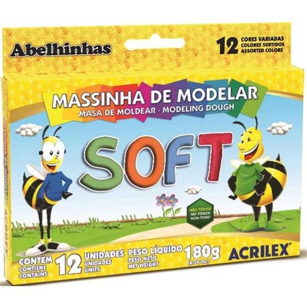 Massa de Modelar de Amido Soft 12 Cores - Acrilex
