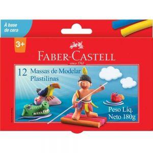Massa de Modelar Plastilinas 12 Cores - Faber Castell