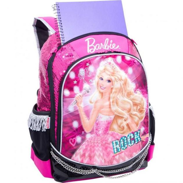 Mochila Barbie Rock N Royals Rosa Grande 064345-08 - Sestini