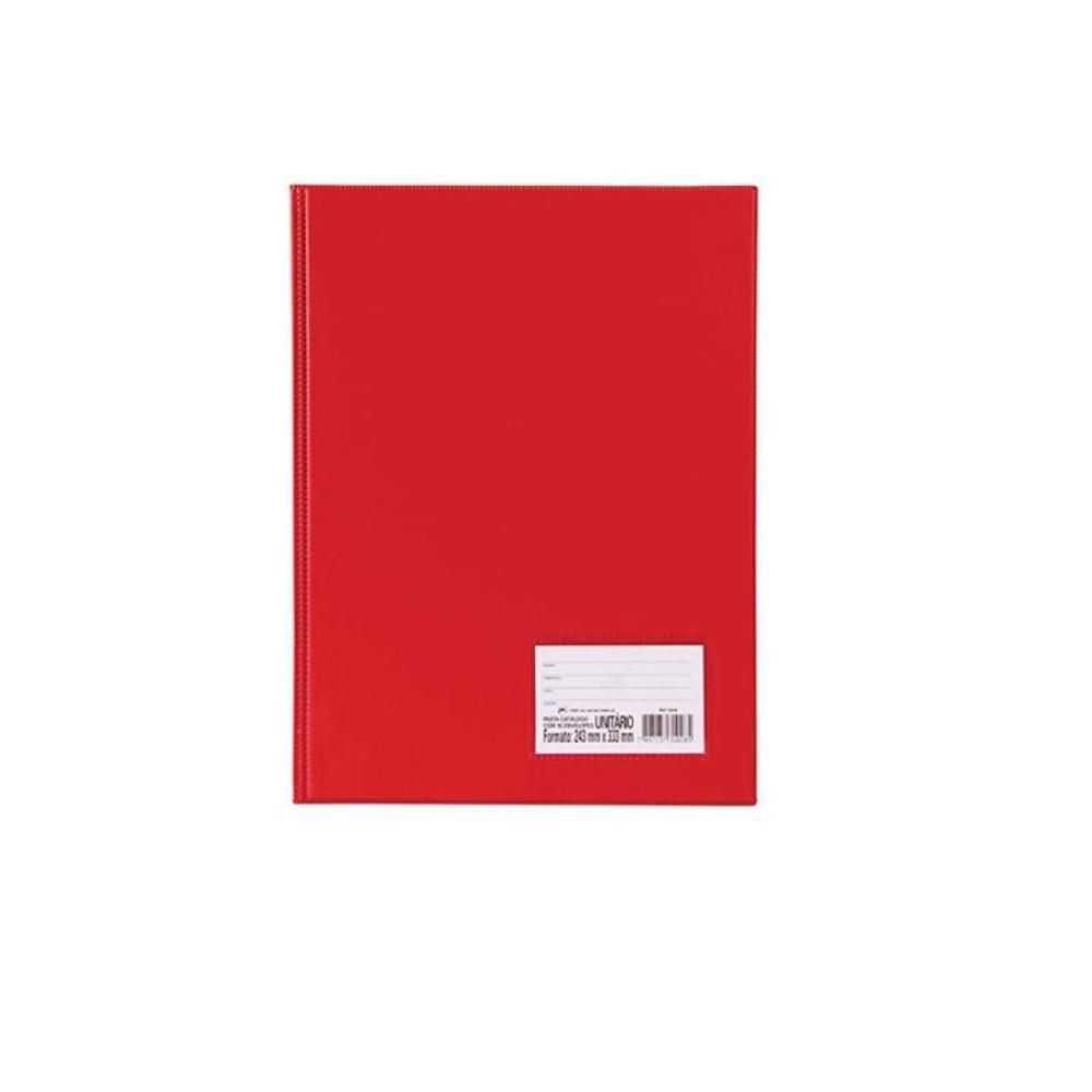 Pasta Catalogo 50 Plastico Vermelho - Dac