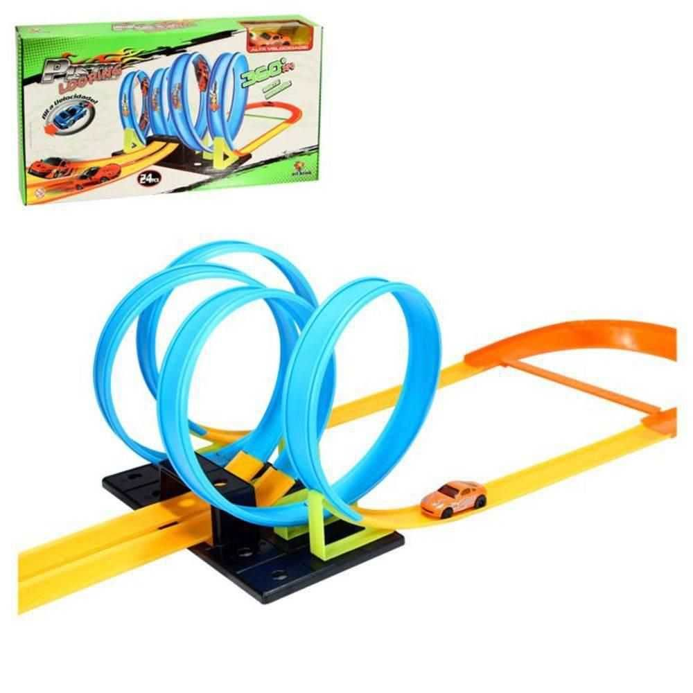 Pista Looping Super Radical Tipo Hot Wheels Com Carrinho - Artbrink