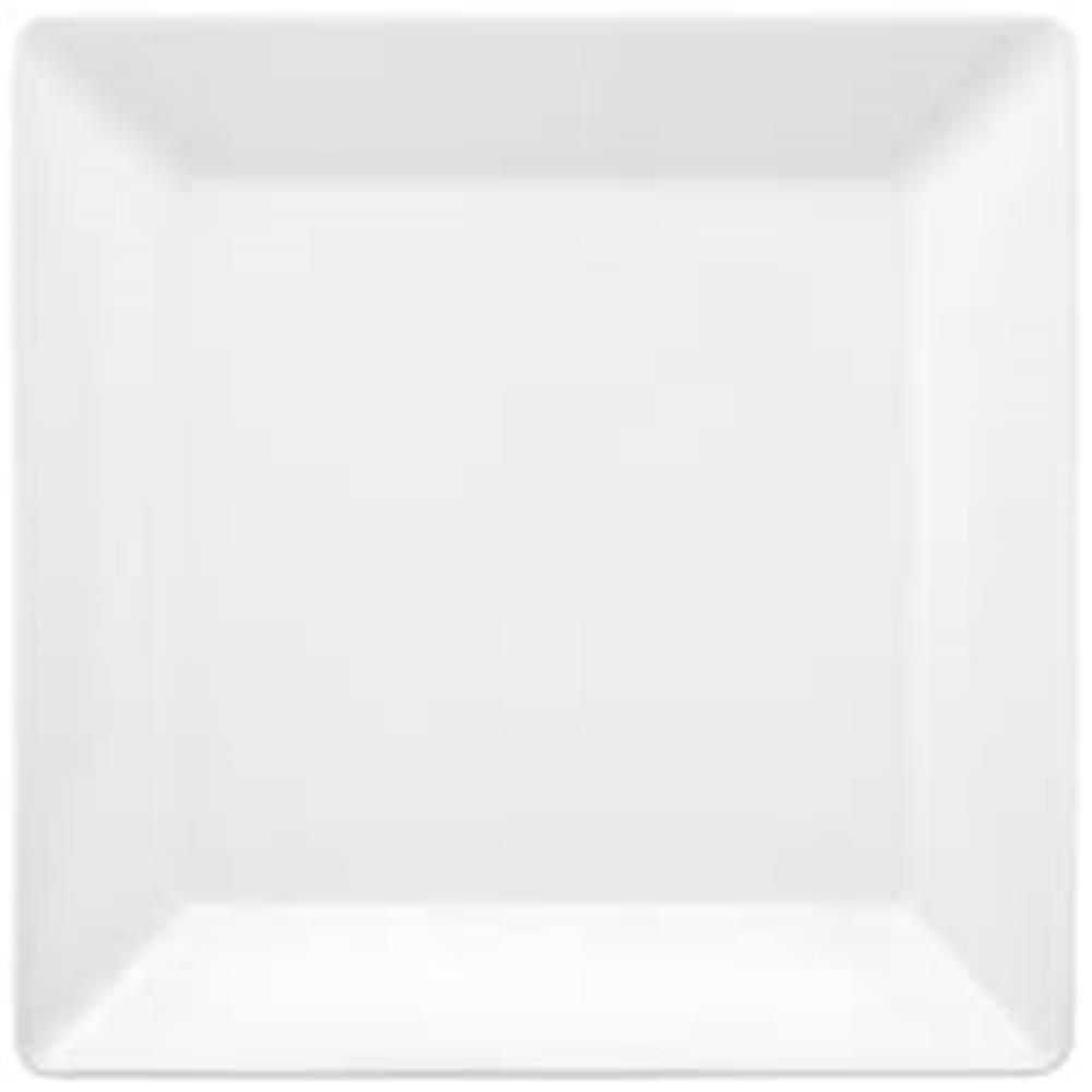 Prato Quadrado 26,5cm Quartier White (unidade) - Oxford