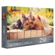 Quebra Cabeça Panorâmico Gatos/ Cachorros 250 Peças Sortidos - Toyster