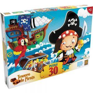 Quebra-cabeça Tesouro dos Piratas 30 Peças - Grow
