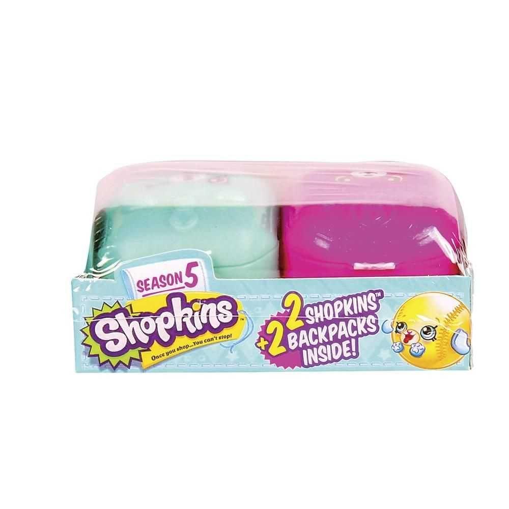 Shopkins - Mochilinhas Com 2 Shopkins Surpresa Serie 5 - Dtc