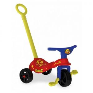 Triciclo Cachorro Com Empurrador - Xalingo