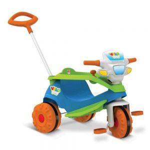 Triciclo Infantil Velobaby Passeio e Pedal Com Empurrador - Bandeirante
